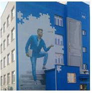 Nowy Mural na Uniwersytecie Rzeszowskim
